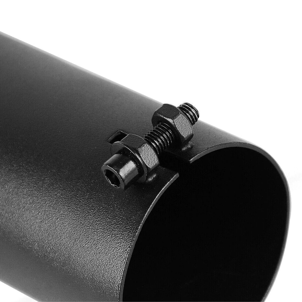 3 inch inlet black turn down exhaust tip 3 x 3 x 12 inches black painting finish stainless steel turndown pipe exhaust tip bolt on design