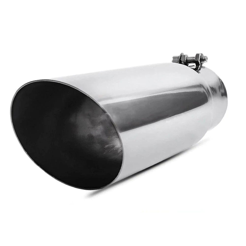 2 75 inlet 3 5 outlet 12inch long bolt on exhaust tip universal ss chrome