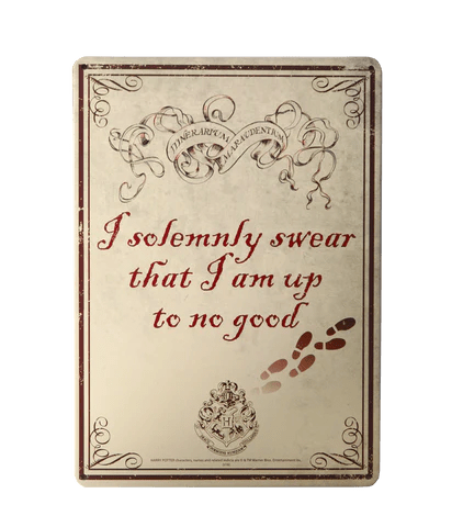 Tin wall plaque