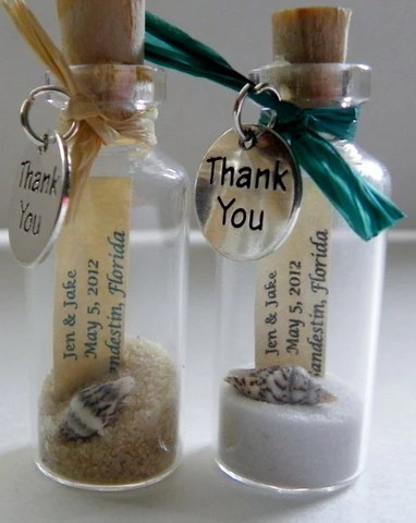 Beach Wedding Favors In A Bottle Candy Cake Weddings