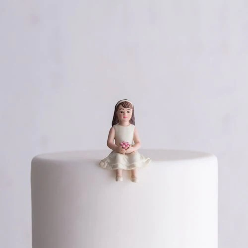 Toddler Girl Child Porcelain Wedding Cake Topper     Candy Cake Weddings Toddler Girl Child Porcelain Wedding Cake Topper