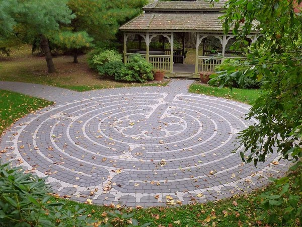 labyrinth flower garden designs Abingdon à la Chartres™ - The Labyrinth Company
