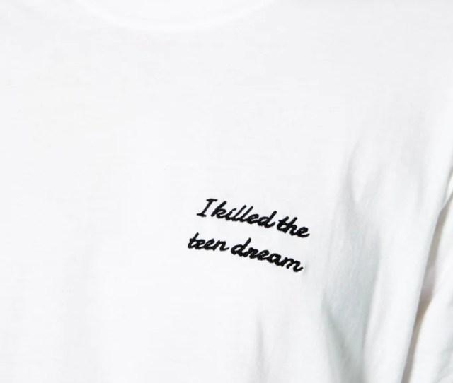 I Killed The Teen Dream Tee In White Long Sleeve