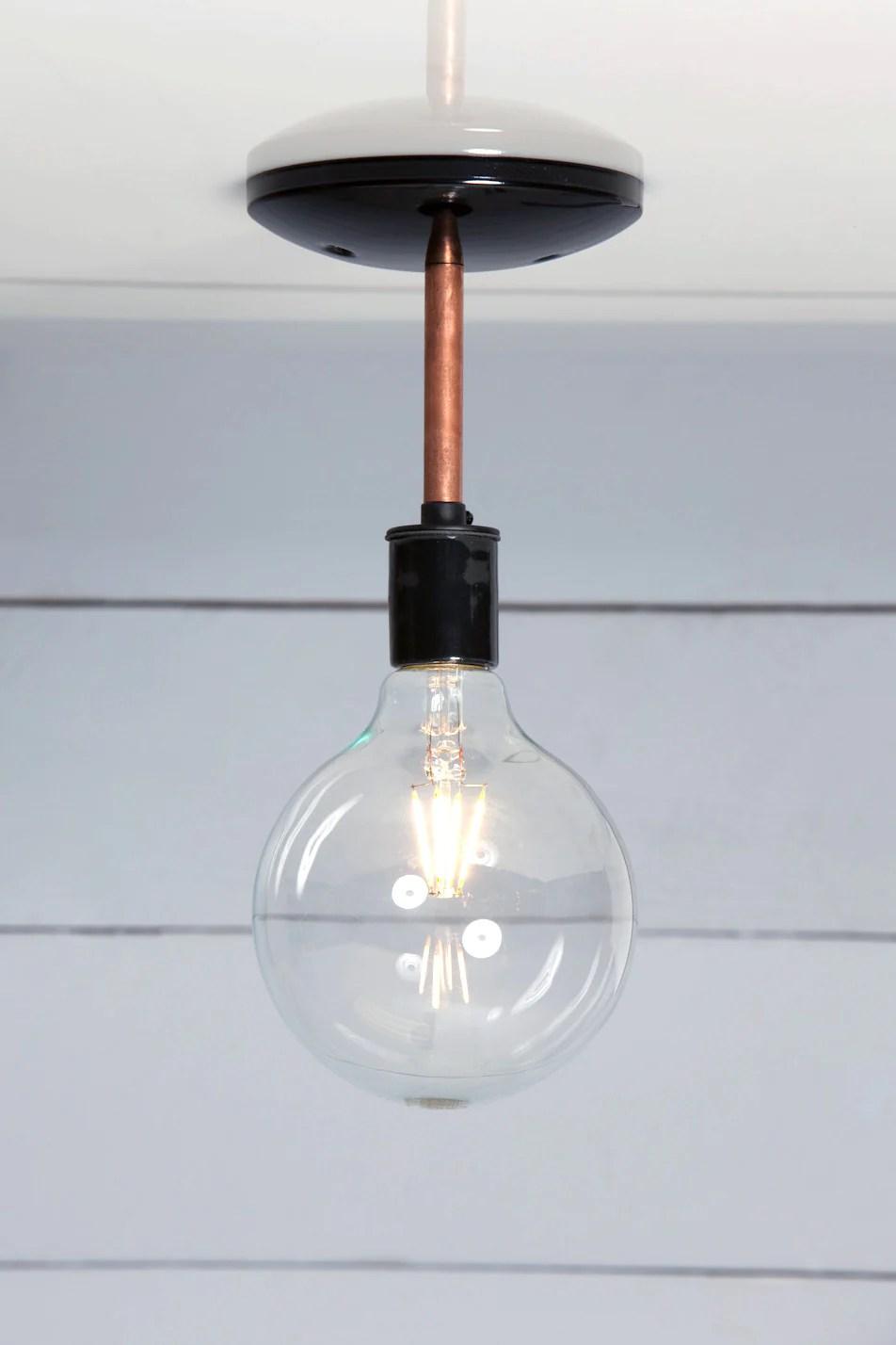 copper semi flush mount ceiling light industrial light electric