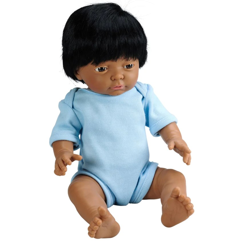 Anatomically Correct Baby Doll with Hair - Indian Boy ...