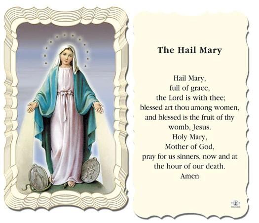 The Hail Mary Holy Card FREE Ship 49 Catholic Online