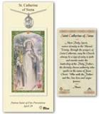 Image of St. Catherine of Siena Pewter Prayer Card