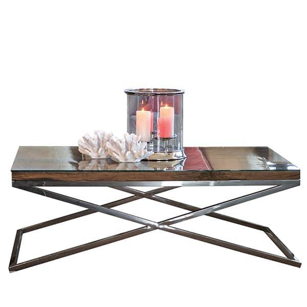 luxe kensington reclaimed wood coffee table