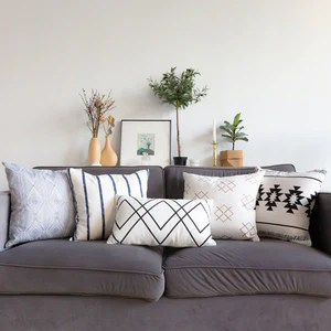 geometric lines pillow cover modern