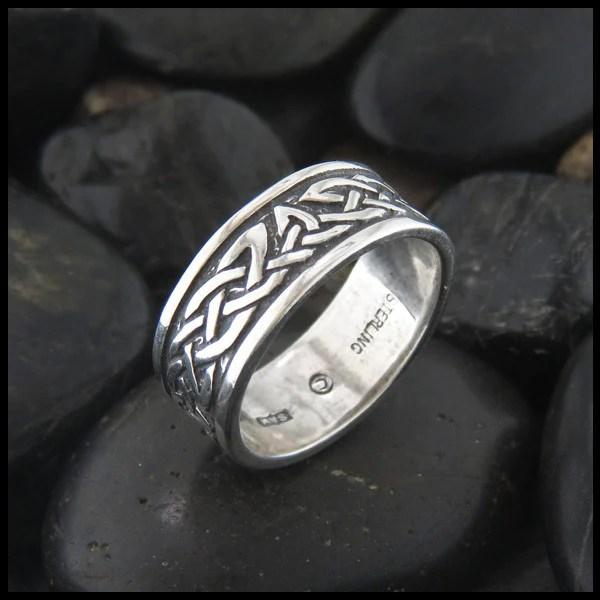 Lorn Sterling Silver Celtic Ring Walker Metalsmiths