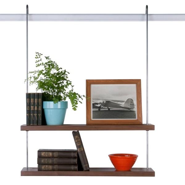 Double Shelf in Walnut