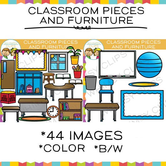 Classroom Pieces Clip Art Images Illustrations Whimsy Clips