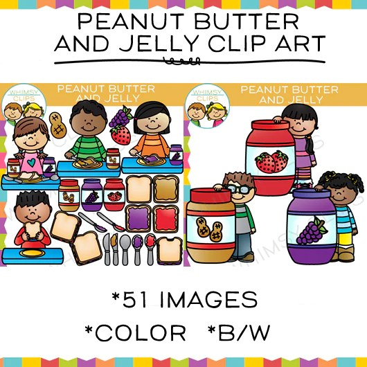 Peanut Butter And Jelly Clip Art Images Illustrations Whimsy Clips
