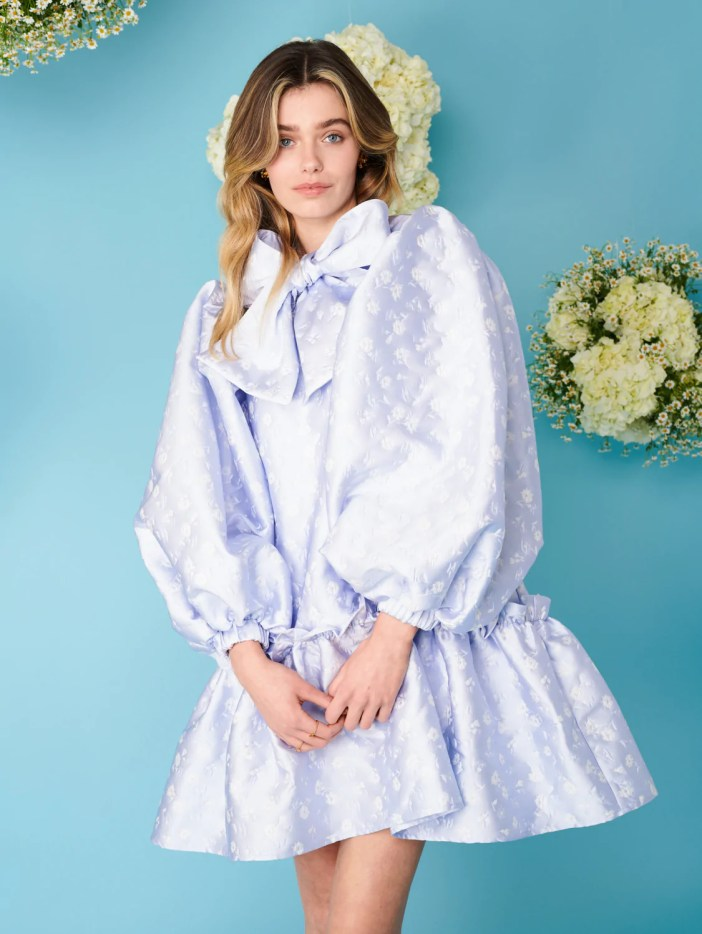 Cornflour Meadow Jacquard Mini Dress sister jane