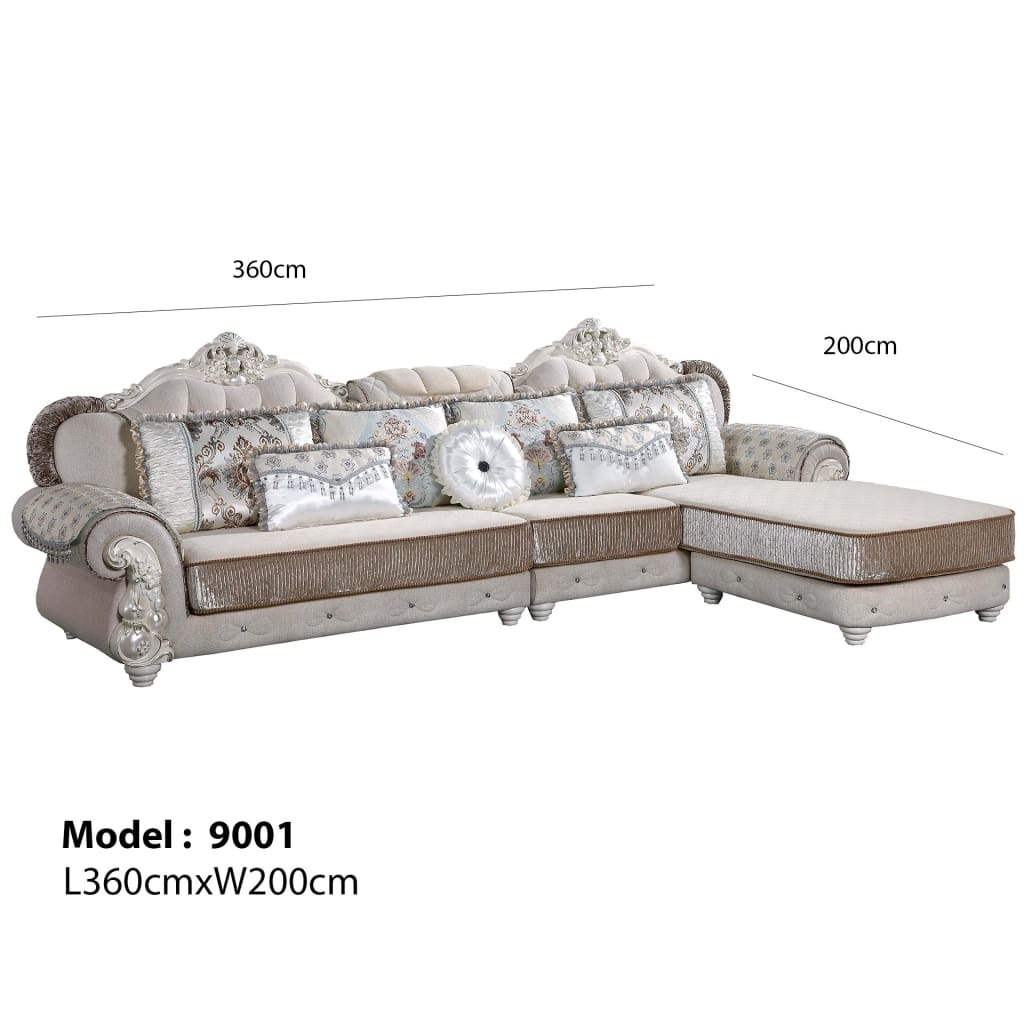 Comfort Galore Sectional Sofa Chaise