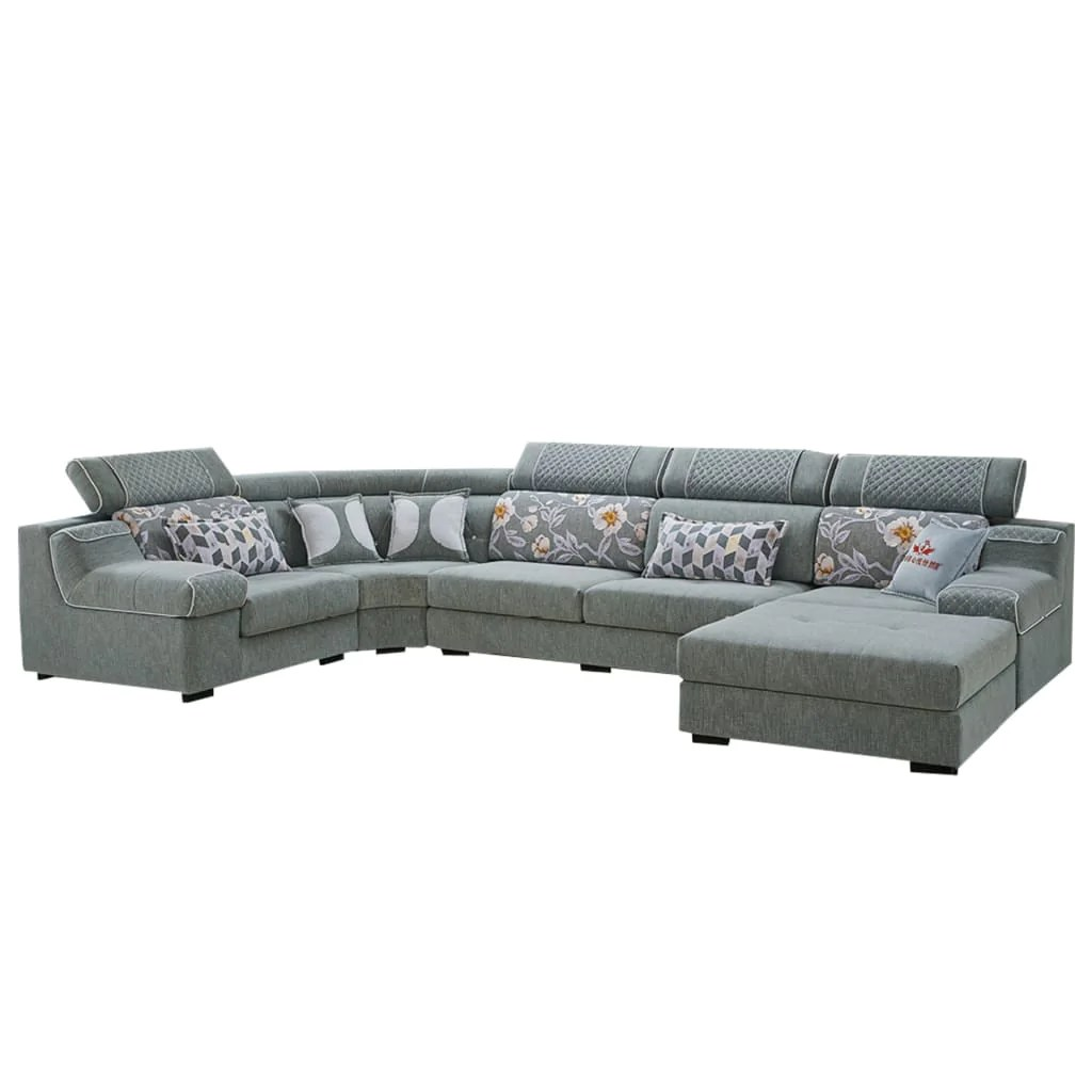 gray sectional sofa with sturdy solid leather