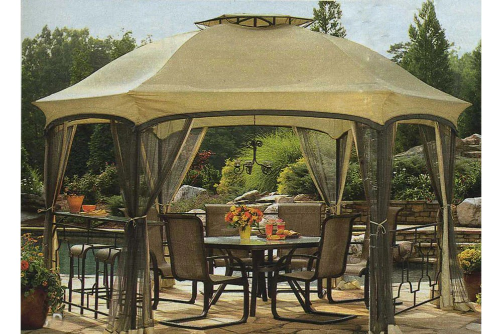 Garden Oasis Dawson Hexagonal Gazebo Replacement Canopy