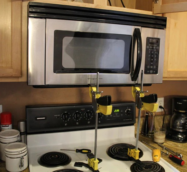 to install an over the range microwave