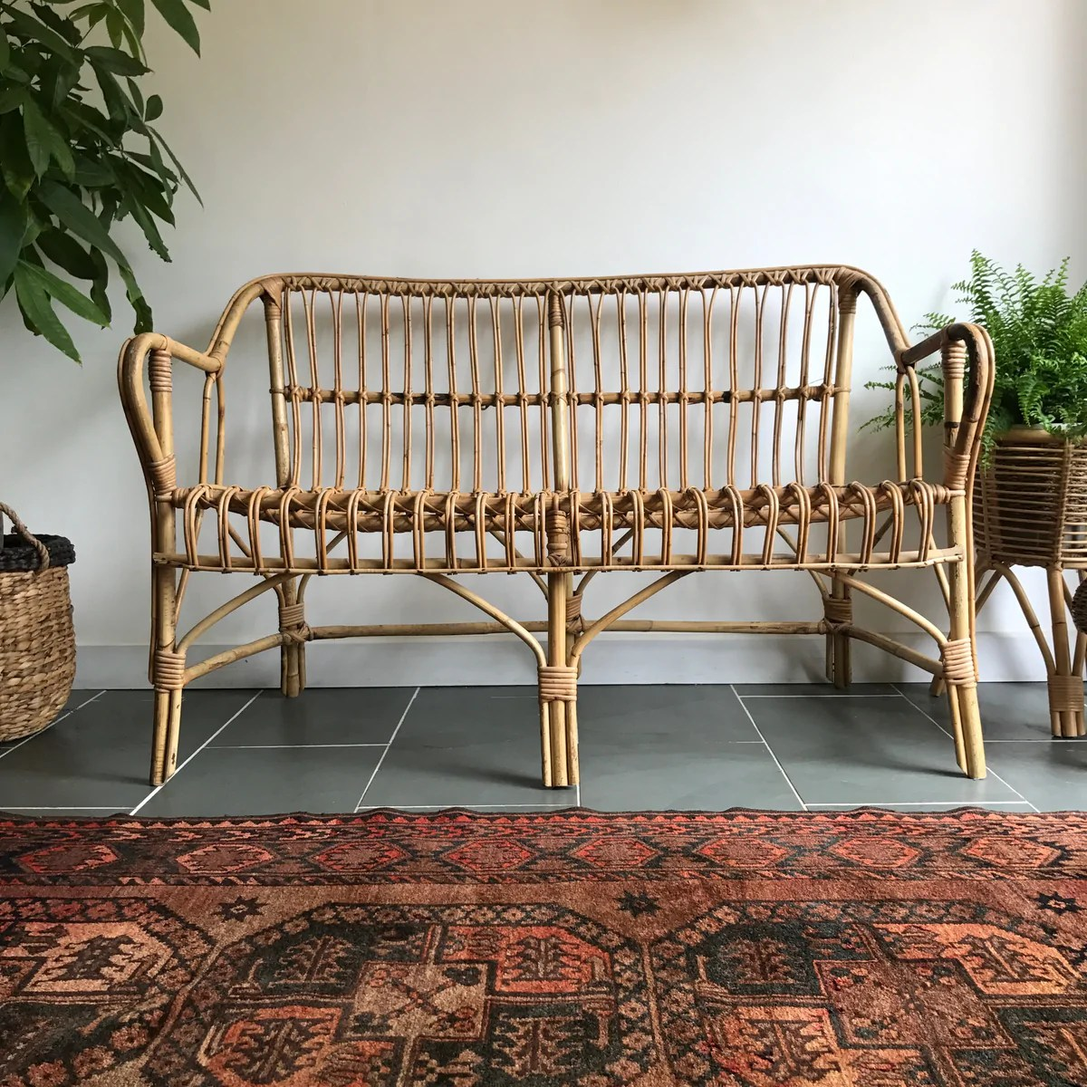 Chinese design studio uchida shanghai has created a small series of bamboo furniture designed for the. Vintage Bohemian Rattan Bamboo Sofa - Mustard Vintage