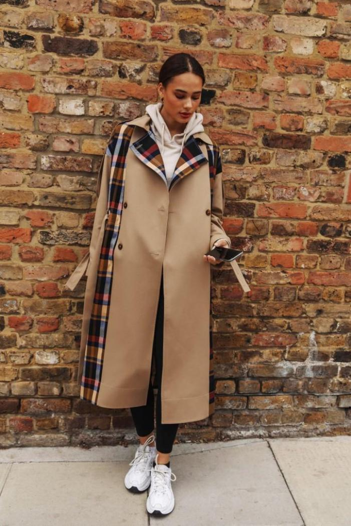 Kimmi Deconstructed Trench palones