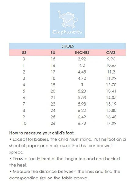Madison Drake Childrens Boutique Clothing Size Charts