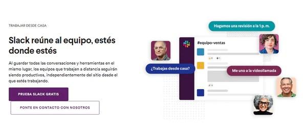 Slack - app de mensajería instantánea