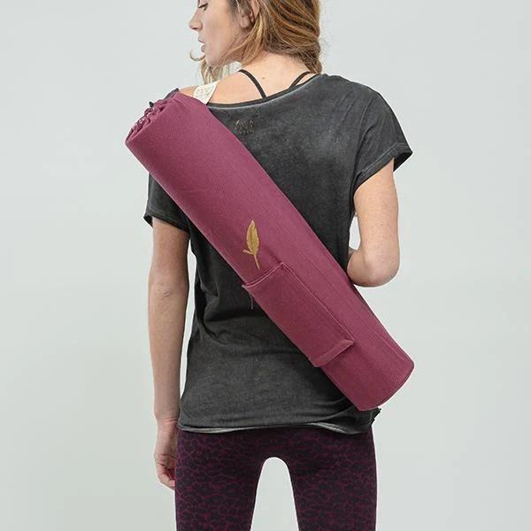 sac a tapis de yoga en coton bio matbag classic bio yoga feel green