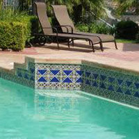using mexican tile outdoors mexican