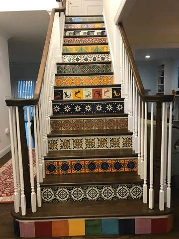 Stairs Gallery Mexican Tile Designs