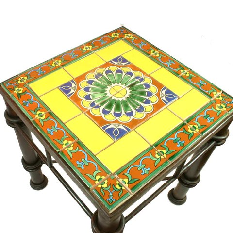 mexican tile wrought iron table fiesta