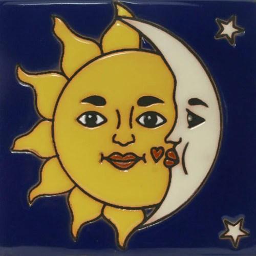 Prima Mexican Tile Sol Y Luna Mexican Tile Designs