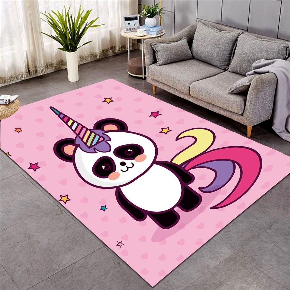 tapis panda chambre fille rose