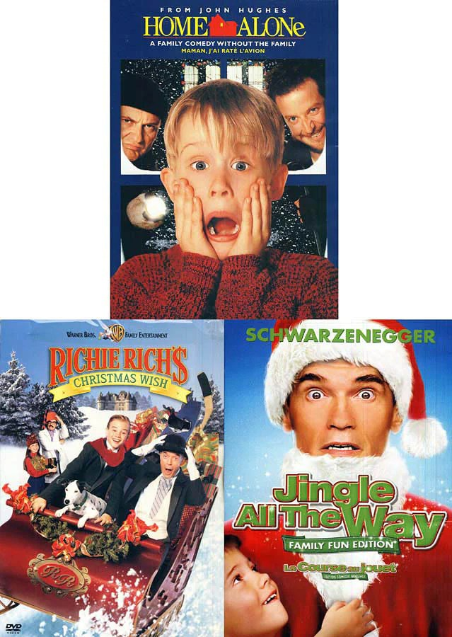 Christmas Pack Home Alone Richie Richs Christmas Wish Jingle All The Way Boxset On DVD