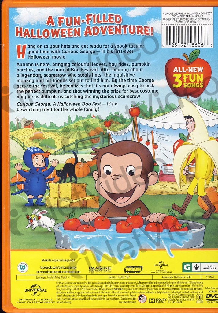 curious george a halloween boo fest on dvd