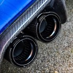 Bmw M Performance Style Black Carbon Fiber Exhaust Tips Xxiituning