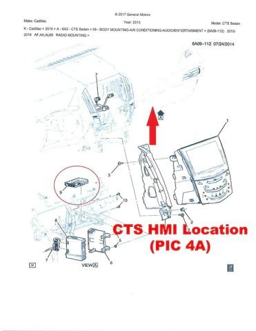 20132015 Cadillac ATS CTS XTS SRX Cue® IO6 GPS Navigation Radio Upgra – Infotainment