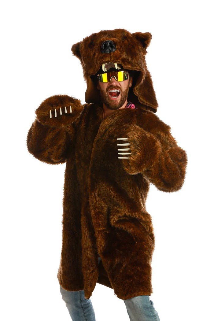 Brown Grizzly Bear Coat The Kodiac Bear Coat