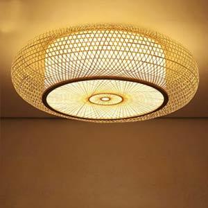 bamboo rattan lamps lighting chandeliers