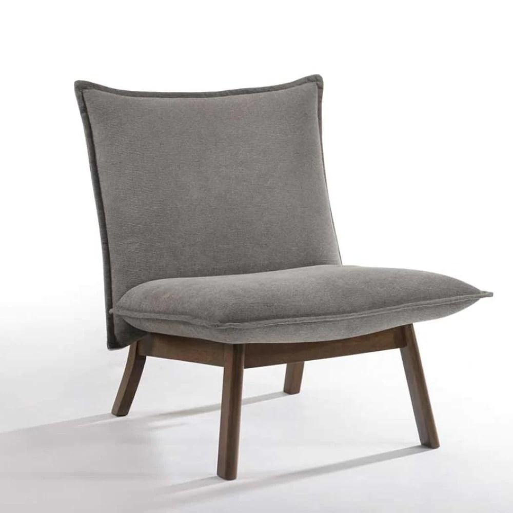 vig furniture modrest gardner modern grey walnut lounge chair