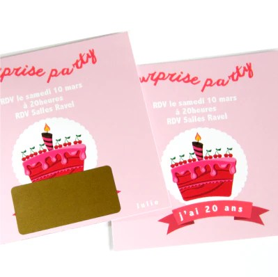 invitation anniversaire adulte