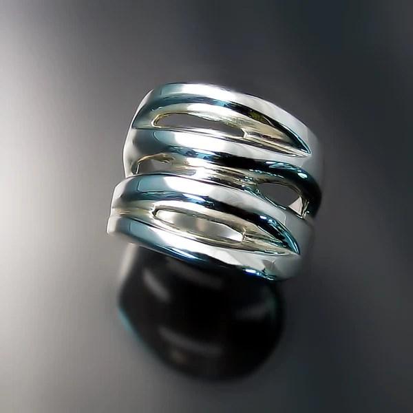 Chunky Silver Statement Rings Zoran Designs Jewelry