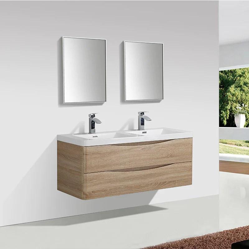Meuble Salle De Bain Design Double Vasque Piacenza Largeur 120 Cm Che Le Monde Du Bain