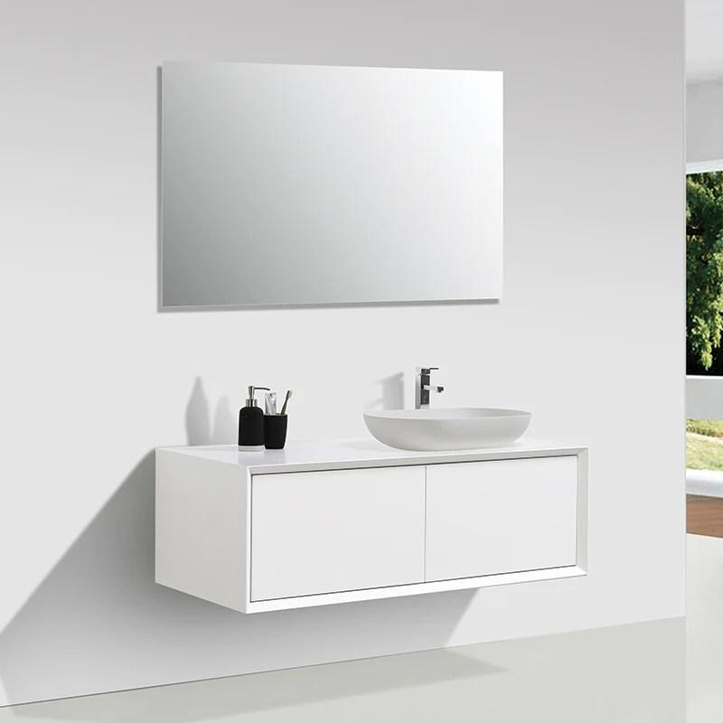 Meuble Salle De Bain Double Vasque Palio 120 Cm Blanc Mat Le Monde Du Bain