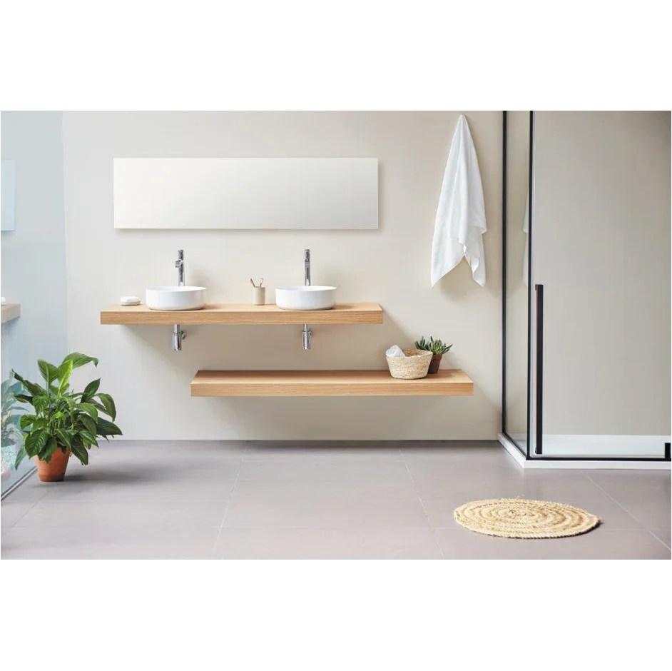 plan vasque suspendu zero pour salle de bain design chene