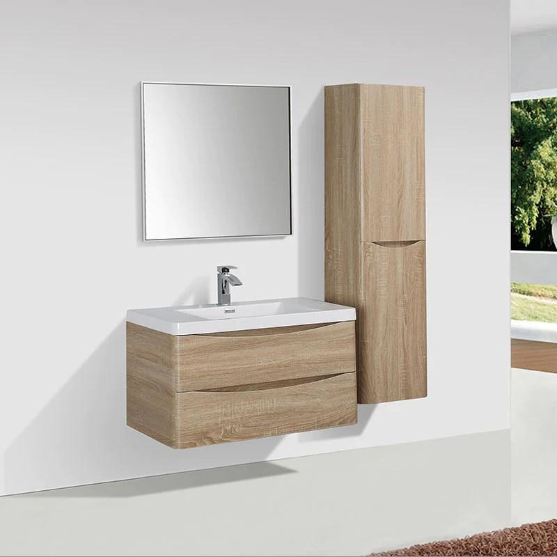 Meuble Salle De Bain Design Simple Vasque Piacenza Largeur 90 Cm Chen Le Monde Du Bain