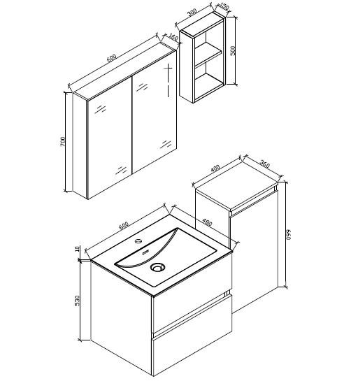 petite armoire de rangement siena hauteur 66 cm chene marron