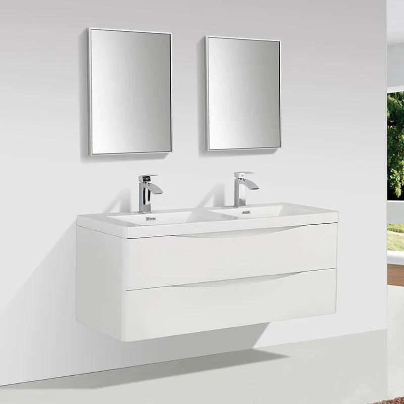 Meuble Salle De Bain Design Double Vasque Piacenza Largeur 120 Cm Bla Le Monde Du Bain