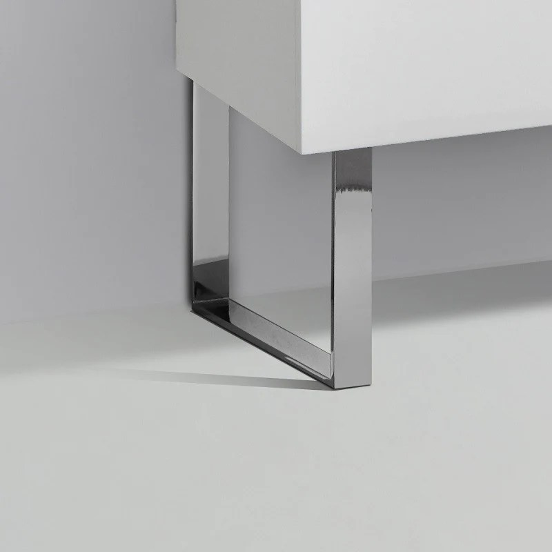 Jeu De 2 Pieds Design Pour Meubles Suspendus Siena Finition Chromee Le Monde Du Bain