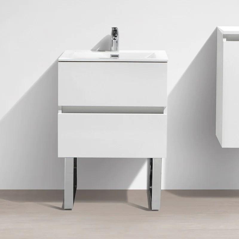 pied pour meuble salle de bain suspendu