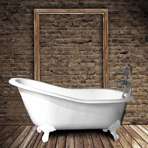 baignoire en fonte petite taille ashford blanche